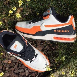 Men's Nike Air Max, white, orange and black